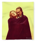 Bela Lugosi And Helen Chandler, Dracula Fleece Blanket