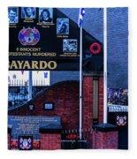 Belfast Mural - Bayardo - Ireland Fleece Blanket