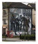 Belfast Mural - Civil Rights Association - Ireland Fleece Blanket