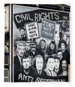 Belfast Mural - Civil Rights - Ireland Fleece Blanket