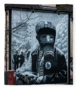 Belfast Mural - Face Mask - Ireland Fleece Blanket