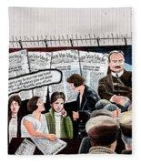 Belfast Mural - Headlines - Ireland Fleece Blanket