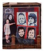 Belfast Mural - Ireland Fleece Blanket