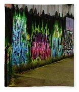 Belfast - Painted Wall - Ireland Fleece Blanket