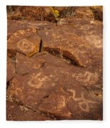 Belfast Petroglyph 6 Fleece Blanket