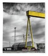 Belfast Shipyard 2 Fleece Blanket