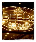 Belgian Beer Sign Fleece Blanket
