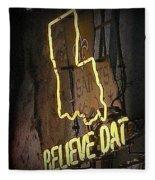 Believe Dat Fleece Blanket