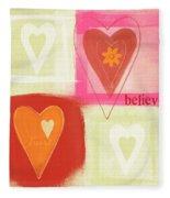 Believe In Love Fleece Blanket