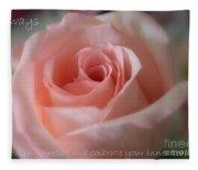 Believe In Yourself Card Or Poster Fleece Blanket