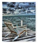 Belize Beach Chair #2 Fleece Blanket