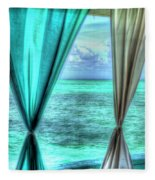 Belize Curtains #1 Fleece Blanket