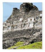 Belize Mayan Ruins  Fleece Blanket