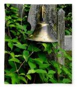 Bell On The Garden Gate  Fleece Blanket