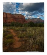 Courthouse Butte Sedona Arizona Fleece Blanket