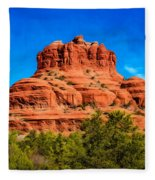 Bell Rock Tower Fleece Blanket