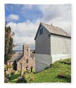 Bell Tower St Mylor Cornwall Fleece Blanket
