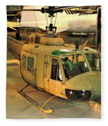 Bell Uh-1h Iroquois Huey Smokey IIi Helicopter Fleece Blanket