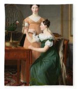 Bella And Hanna. The Eldest Daughters Of M.l. Nathanson Fleece Blanket