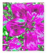 Bella Flora 2 Fleece Blanket