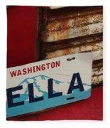 Bella License Plate Fleece Blanket