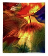 Bellagio Ceiling Sculpture Abstract Fleece Blanket