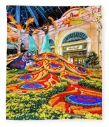 Bellagio Conservatory Fall Peacock Display Side View Wide 2017 Fleece Blanket