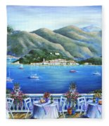 Bellagio From The Cafe Fleece Blanket