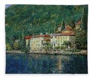 Bellano On Lake Como Fleece Blanket