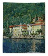 Bellano On Lake Como Fleece Blanket