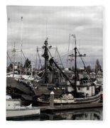 Bellingham Bay Ship Yard Fleece Blanket