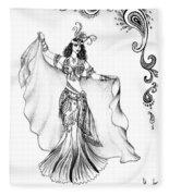 Belly Dancer With Veil. Friend Of Ameynra Fleece Blanket