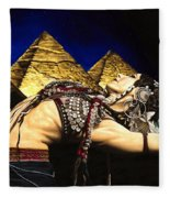 Bellydance Of The Pyramids - Rachel Brice Fleece Blanket