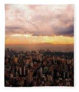 Belo Horizonte - The Cityscape From Above Fleece Blanket