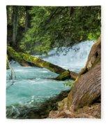 Below The Falls Fleece Blanket