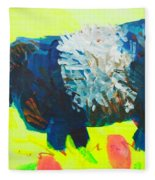 Belted Galloway Cow Looking At You Fleece Blanket