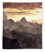 Belzoni Mountain Range Fleece Blanket
