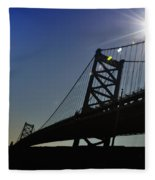 Ben Franklin Bridge 2 Fleece Blanket