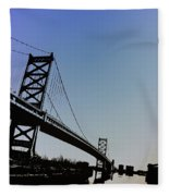 Ben Franklin Bridge Fleece Blanket