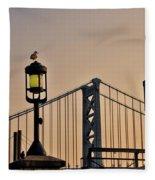 Ben Franklin Bridge In Early Morning Fleece Blanket
