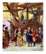 Ben Franklin Returns To Philadelphia Fleece Blanket