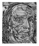 Ben In Wood B W Fleece Blanket