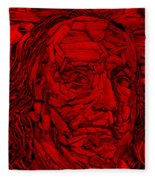 Ben In Wood Red Fleece Blanket