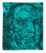 Ben In Wood Turquoise Fleece Blanket