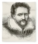 Ben Jonson 1572 To 1637. English Fleece Blanket