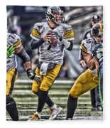 Ben Roethlisberger Pittsburgh Steelers Art Fleece Blanket