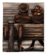 Bench - A Couple Out Of Time Fleece Blanket