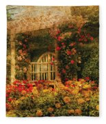 Bench - The Rose Garden Fleece Blanket
