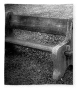 Bench By The Barn Fleece Blanket