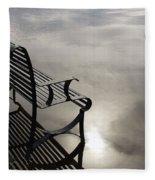 Bench In The Clouds Fleece Blanket
